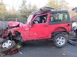 crashed jeep wrangler alleged impaired driver arrested after high speed crash on sooke road