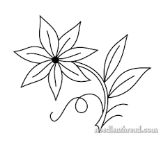 Flower Designs For Drawing Free Hand Embroidery Pattern Single Flower Hand Embroidery