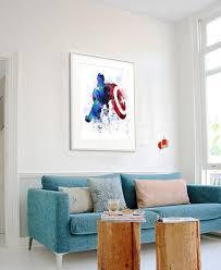 Captain America Decor Captain America Captain America Print Marvel Avengers Marvel