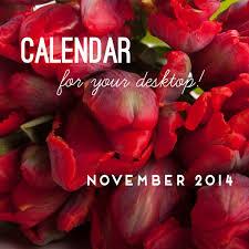 november 2014 calendar flower muse blog