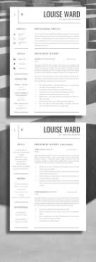 Professional Resume Cv Template 190 Best Resume Design Layouts Images On Resume