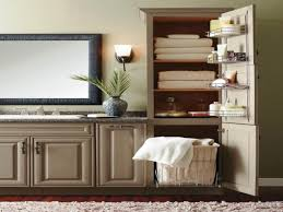 Bathroom Cabinet With Built In Laundry Hamper Bathroom Vanity With Laundry Hamper Linen Cabinet Storage