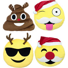 emoji expressions holiday pillows 4 pack walmart com