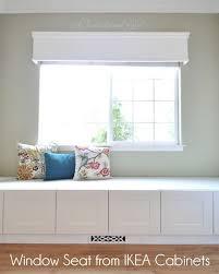 window seat ikea built in window seat bench from ikea cabinets build me pinterest
