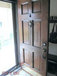 Stain For Fiberglass Exterior Doors Restaining A Front Door How To Refinish An Exterior Using Gel