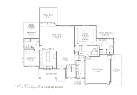 home floor plans 2015 rockport ranch home u2013 henning estates