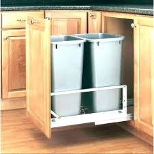 garbage can under the sink under sink garbage can with lid volvorete com