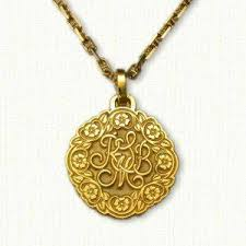 monogram pendants floral jewelry designet international