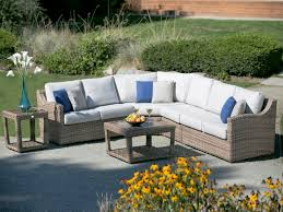 Wicker Sectional Patio Furniture by Outdoor Wicker Sectional Garden Decorating Outdoor Wicker
