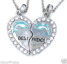 ebay necklace heart images Gold best friend heart necklace on the hunt jpg