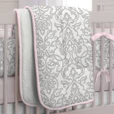 pink and grey bedding home crib bedding pink and gray filigree