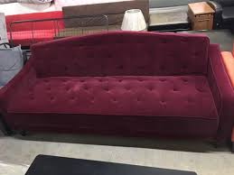 Tufted Sofa Sleeper by Novogratz Vintage Tufted Sofa Sleeper Burgundy Velour For Sale In