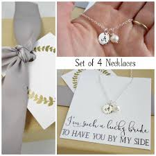 necklace gift sets images Bridesmaid necklace set of 4 four bridesmaid gift set custom jpg