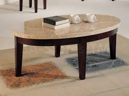 Granite Top Coffee Table Brown Oval Mid Century Granite Top Coffee Table End Table Set