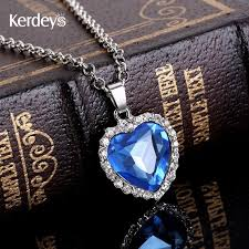 necklace titanic images 2018 sapphire jewelry titanic heart ocean necklace platinum plated jpg
