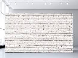 white brick wall mural olivia poppy white brick wall mural
