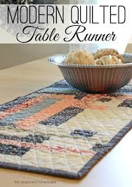 how to make a table runner with pointed ends modern quilted table runner