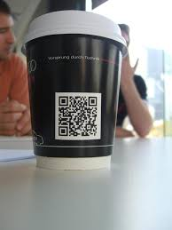 qr codes printed on paper cups