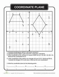 coordinate plane worksheet education com