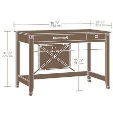 sauder carson forge writing desk 412924