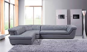 Grey Leather Sectional Sofa Grey Modern Italian Leather Sectional With Button Tufts Jm397g
