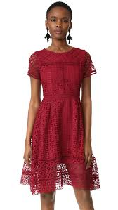 cupcakes and cashmere mori lace fit and flare dress shopbop