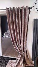 Gold Velvet Curtains Crushed Velvet Curtains Ebay