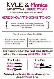 Funny Wedding Programs My Programs Weddingbee Photo Gallery