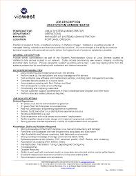 Resume Job Title Format by Resume Format For Linux System Administrator Free Resume Example