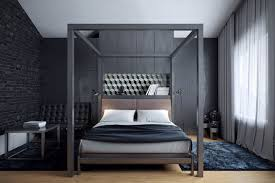Wall Canopy Bed by Bedroom Amazing Black And White Bedroom With Brick Wall Also