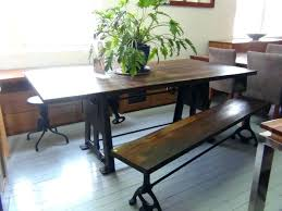 industrial tables for sale single leg table distressed dining table beautiful single leg set