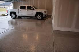 4 car garage platinum granite epoxy coating