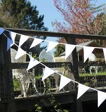 Decorative Wedding House Flags 10m White Wedding Bunting Double Sided Fabric Bunting Amazon Co
