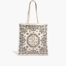 the reusable canvas tote bag bandana edition shopmadewell totes