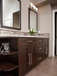 bathroom shaker bathroom vanity with double bathroom mirror and