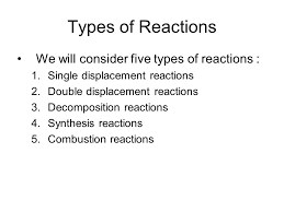 chapter 9 classifying chemical reactions types of reactions we