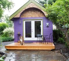 vacation in a tiny house purple tiny house vacation in portland or tiny houses vacation