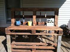 diy pallet work table garden work bench made from old pallet and scrap lumber yard