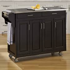 black kitchen island with stainless steel top buy create a cart kitchen island with stainless steel top base