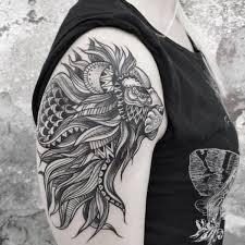 nice shoulder old geometric lion tattoo golfian com