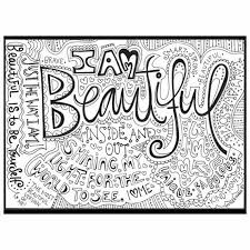 printable recovery quotes i am beautiful coloring page download adult coloring page