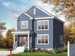 starter home plans small home plans small two story house plan fits a narrow lot