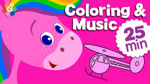 learning colors for kids pink coloring and music for children