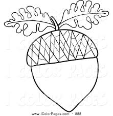 leaves coloring pages fall leaves acorn coloring free