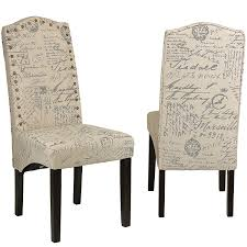 dining room chair fabric amazon com cortesi home miller dining chair in beige script