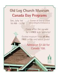 canada day u2014 old log church museum