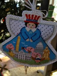 washington dc needlepoint ornament painted pony canvas