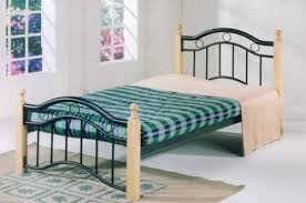 Single Beds Metal Frame Single Bed Metal Wood Gdf 8882 Price Review And Buy In Dubai