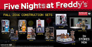 five nights at freddy u0027s fall 2016 construction sets u2026 in stores now