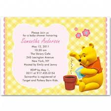 winnie the pooh baby shower invitations the pooh baby girl shower invitations bs104